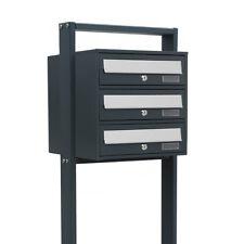 3er Postfach Stand Briefkastenanlage 3 Standbriefkasten 3fach System Postkasten