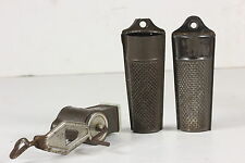 3 Primitive Nutmeg Spice Graters 2 W/ Storage Compartments 1 Rotary Grinder