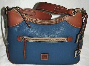 Dooney & Bourke Blue Jeans Pebble Grain Large Vacchetta Leather Shoulder Bag