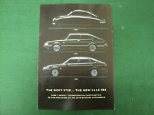 NEW SAAB 900 1946 1977 1993 SALES BROCHURE FOLD OUT STYLE