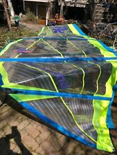 "Rushwind 6.0 Windsurfing sail, ""Viento."" Green and Blue with large window."