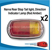 Caravan STOP TAIL LIGHT CHROME ( X2 )  12V  Narva Vintage  Viscount 86010