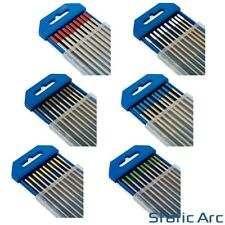 10Pc TIG WELDING TUNGSTEN ELECTRODES BLUE/GOLD/GREEN/GREY/RED/WHITE 1.6mm/2.4mm