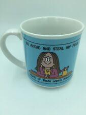 Cathy Comic Strip Mug Steal My Pens Cup Office Desk Pen Holder Vintage