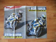 POSTER ANNO 2012 - BMW MOTORRAD SBK TEAM e AYRTON BADOVINI/MICHEL FABRIZIO