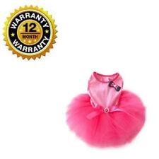Dress With Tutu Skirt New Pink Gauze Bowknot Cute Puppy Dog Cat Princess Clothes