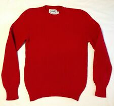Vintage Lake Harmony Rowing Club Mens Red Sweater Size S Crewneck Textured Knit