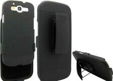 BLACK COMBO CASE HARD SHELL DEFENDER CARRYING HOLSTER Y4B for SAMSUNG GALAXY S3