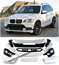 For 07-10 BMW E70 X5 Air Aerodynamic Front Rear Bumper Lip Cover Full Body Kit