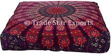 Decorative Mandala Large Floor Cushion Ethnic Square Mediation Box Pillow Cover