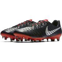 Nike Tiempo Legend 7 Pro FG Soccer Cleats Black Silver Red AH7241-006 Men's NEW