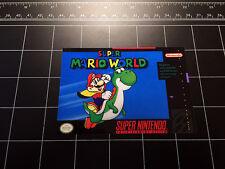 Super Mario World SNES box art retro video game vinyl decal sticker nintendo 90s