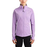Saucony Womens Vitarun Waterproof Running Jacket Top Purple Sports Full Zip