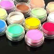 12 Mix Colors Acrylic Nail Art Tips UV Gel Powder Dust 3D DIY Decoration Set Kit