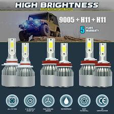 9005 + H11 + H11 6000K 5400W 810000LM Combo CREE LED Headlight Kits Hi Low Bulbs
