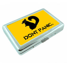 Don't Panic Squirrel Em1 Silver Metal Cigarette Case RFID Protection Wallet