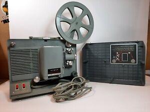 Vintage Argus 8mm Movie Projector M500 Reel No Lamp Motor Works, Reverse Sticks