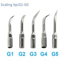 5 Pcs  Dental Ultrasonic Scaler Scaling Tip G1-G5 Fit Woodpecker EMS Handpiece