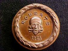 Dread Pirate Roberts copper coin, Jolly Roger, Skull and crossbones, 1721