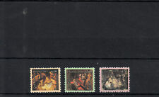 Cook Islands 2013 MNH Christmas Paintings 3v Set Art Rembrandt Michelangelo