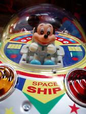 "MICKEY MOUSE SPACE SHIP FLYING SAUCER MASUDAYA ""88 BATTERY OPERATED DISNEY JAPAN"