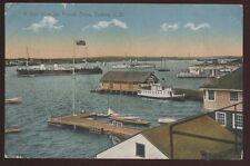 Postcard SYDNEY Cape Breton NS/CANADA  Harbor view w/French Military Ships 1905?