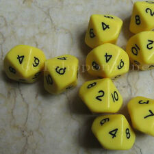 Lot 10 Yellosw Sided D10 RPG D&D Game Gaming Dice Set