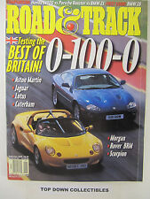 Road and Track Magazine  September 1999   Testing Best Of Britain