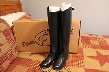 Devon Aire Ladies Field Boot Black Leather with Zipper  Ladies Size 9R NIB  #645