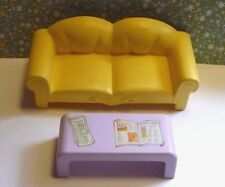 VINTAGE 1985 G1 MY LITTLE PONY PARADISE ESTATE MANSION COUCH & COFFEE TABLE VGC