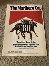 Vintage 1980 MARLBORO CUP HORSE RACING Poster Print Ad WINTER'S TALE RARE