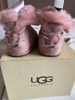 UGG Baby Australia Boo Boot Pink Suede  Infant Size Small