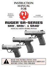 Ruger SR Series Pistol Owners Instruction and Maintenance Manual SR9 SR9C SR40