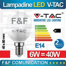 Lampada LED E14 6w equivalente 40w VTAC 2700k - calda
