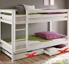 Kinderbett Etagenbett Weiss Hochbett Spielbett Roll Lattenrost Stockbett 90x200  günstig