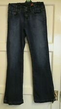 WOMENS LONG THE SHAPER FLARE BLUE JEANS SIZE 8