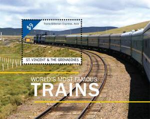 St. Vincent 2013 - SC# 3911 - Famous Trains, Trans-Siberian Express - S/S - MNH