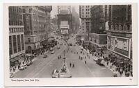 Times Square New York City NY RPPC Real Photo Vintage Postcard