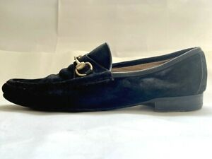 Vintage Gucci Loafers in Black Suede