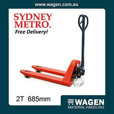 Value Pallet Jack 2 Tonne, 685mm Wide. Free Postage Sydney Metro Only.
