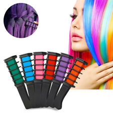 Non-Toxic Easy Wash Out Colors Hair Chalk Dye Soft Temporary Hair Comb Salon Kit