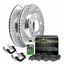 Fit Lexus, Toyota ES300, Camry Front Drill Slot Brake Rotors+Ceramic Brake Pads