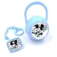 Disney Mickey Mouse Set Box e Spilla Porta Ciuccio con Catena