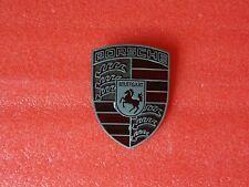 PORSCHE 911 Hood Crest Badge Emblem - Titanium Silver 928 944 993 996 Boxster