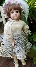 """Antique French Repro Doll Artist Patty O A.4 23"""" All Bisque Steiner"""
