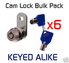Tool Box Ute Hard top CAM LOCK 16mm Solex Security BULK LOT x6 Locks KEYED ALIKE