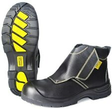 Titan Welders Welding Black Leather Work Safety Boots Steel Toe Cap Mid Sole S3