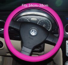 PINK Silicone Resistance Car Steering Wheel Cover Fits diameter 34cm-38cm