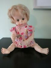 "EFFANBEE~Vintage 1971 Squeaky 16"" Doll ~ Blonde ~ Gray Open/Close Eyes"