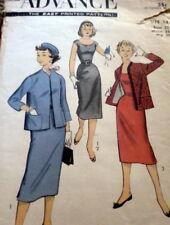 LOVELY VTG 1950s DRESS & JACKET ADVANCE Sewing Pattern 14/32